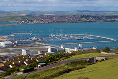 Portland Marina Dorset. Portland Marina near Weymouth and Chesil beach Dorset Royalty Free Stock Photography