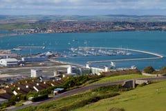 Portland Marina och Weymouth Dorset Arkivfoton