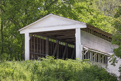 Portland Mils Covered Bridge in Parke County, Indiana Stock Images