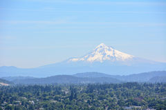 Portland and Mount Hood Panorama. Portland, Oregon, USA Stock Image