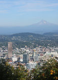 Portland & Mt Hood. Portland Oregon on looking East at Mt. Hood Royalty Free Stock Photography