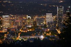 Portland at Night Royalty Free Stock Photos