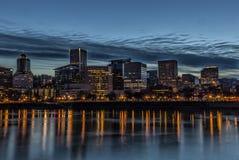 Portland at Night Royalty Free Stock Photos