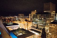 Portland Nightscape Images stock