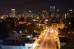 Portland, O notte Fotografie Stock Libere da Diritti