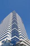 Portland, OR Office Building and Blue Sky. An office building in Portland, Oregon against a clear blue sky Royalty Free Stock Image