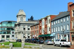 Portland Old Port and Custom House, Maine, USA Royalty Free Stock Photos