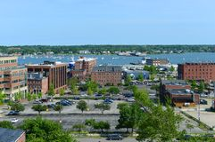 Portland Old Port and Portland Harbor, Maine, USA Royalty Free Stock Image
