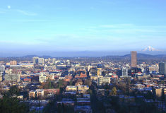 Portland OR., City Landscape At Sunset. Stock Photos