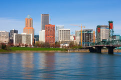 Portland Oregon. Skyscrapers in downtown Portland, Oregon Royalty Free Stock Images