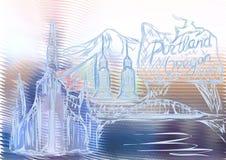 Portland Oregon libre illustration