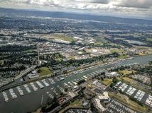 Portland Oregon from above Stock Photo
