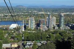 Portland, Oregon antena tramwaj zdjęcia stock