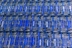Lot of shopping cart at IKEA Home Furnishings Store. Portland, OR. Portland, Oregon - Aug 29, 2018 : Lot of shopping cart at IKEA Home Furnishings Store stock image