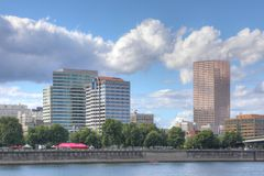 Portland, Oregon on a beautiful day stock photography