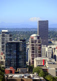 Portland Oregon buildings & Mt. St. Helen's. Royalty Free Stock Images