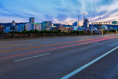 Portland, Oregon from the Burnside Bridge Royalty Free Stock Image