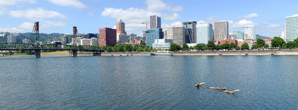 Portland Oregon city panorama. stock photos