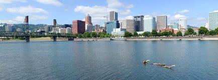 Portland Oregon city panorama. Stock Photos