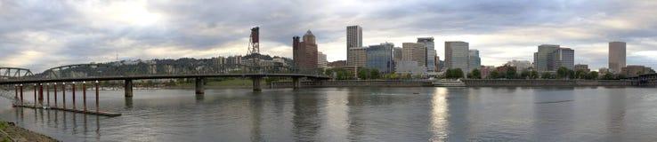 Portland Oregon City Skyline Panorama Stock Photos