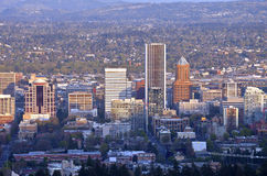Portland Oregon city view at sunset. Stock Images