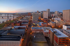Portland Oregon Cityscape Aerial View Stock Photography