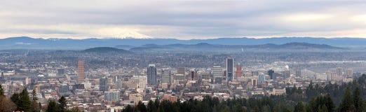 Portland Oregon Cityscapepanorama Arkivbild