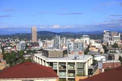 Portland Oregon Cityscapes. Stock Photos