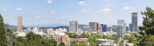 Portland Oregon Downtown Panorama Stock Photos