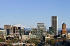 Portland Oregon Downtown Skyline. From Vista Bridge Stock Images