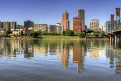 Portland Oregon Downtown Skyline Reflection Royalty Free Stock Photo
