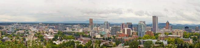 Portland Oregon Downtown View Panorama Stock Image