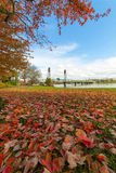 Portland Oregon Downtown Waterfront Park Autumn Royalty Free Stock Photo