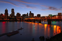 Portland Oregon at dusk. Stock Photo