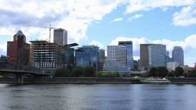 Portland, Oregon on a fine sunny day by the river. View of Portland, Oregon on a fine sunny day by the river royalty free stock images