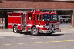 Portland Oregon Fire Rescue Paramedics royalty free stock image