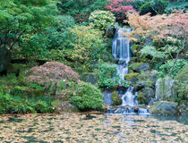 Portland Oregon Japanese Garden Stock Photography
