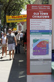 Chinatown Sign and People Stock Photos