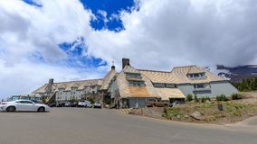 Timberline Lodge & Ski and Snowboard Area at Mt. Hood, Oregon. Portland, Oregon - June 17, 2018 : Timberline Lodge & Ski and Snowboard Area at Mt. Hood, Oregon stock photo
