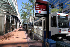Portland Oregon MAX Light Rail Royalty Free Stock Photo