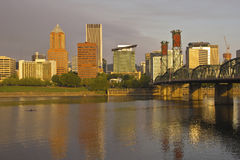 Portland Oregon in morning light. Royalty Free Stock Photo