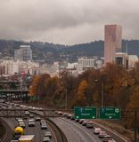 Office R Libke Honor Procession Portland Oregon Stock Image