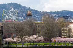 Portland Oregon Old Town Waterfront Royalty Free Stock Images