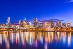Portland, Oregon, orizzonte di U.S.A. fotografie stock
