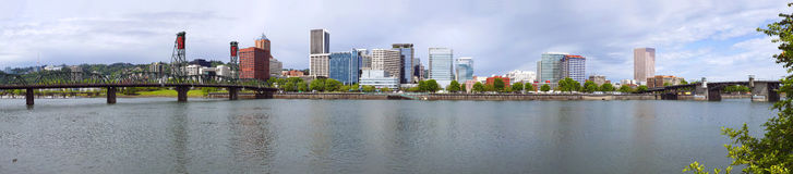 Portland Oregon Panorama. Stock Photo
