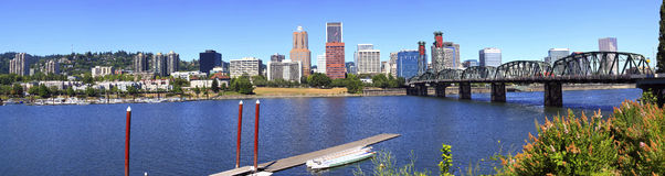 Portland Oregon panorama. Royalty Free Stock Images
