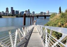 Portland,Oregon. Portland, Oregon from the east bank Stock Image