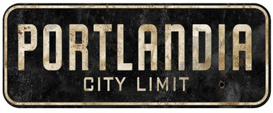 Free Portland Oregon Portlandia City Limit Sign Grunge Vintage Royalty Free Stock Image - 140319696