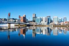 Portland, Oregon Reflection Royalty Free Stock Photo