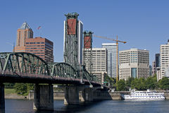 Portland Oregon river front Stock Photos
